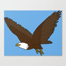 Bird Art Artwork Bald Eagle Flying In Sky Beautiful Womens Decor Gift Canvas Print