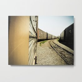 end of the line Metal Print