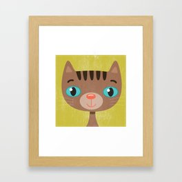 Brown Kitty Framed Art Print