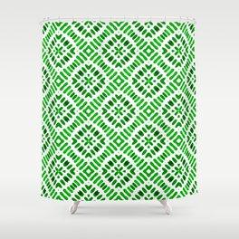 Shibori Watercolour no.7 Green Shower Curtain