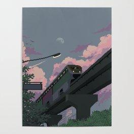 Moonrise Train Poster