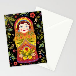 Russian matrioshka Stationery Cards