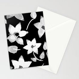 Black Bougainvillea Stationery Cards