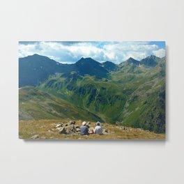 zwölferkopf hiking break view alps serfaus fiss ladis tyrol austria europe Metal Print