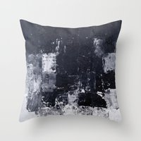 "skyline Throw Pillows featuring ""Skyline"" by Prima Haven"