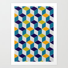 Cube Geometric III Art Print