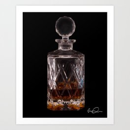 Bourbon in Decanter Art Print