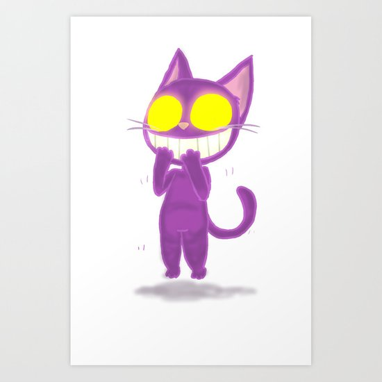 GhostKat EXCITED Art Print