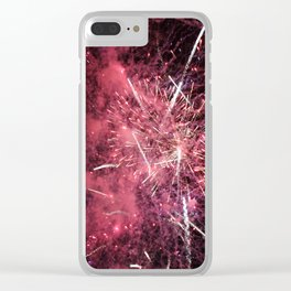 Fireworks Finale Clear iPhone Case