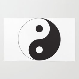 YIN YANG Abstract Art Rug