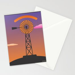 windmill glance Stationery Cards