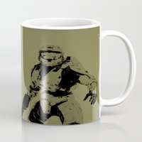 master chief Mugs featuring Master Chief by Anthony Bellus