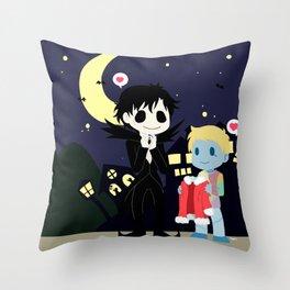 The nightmare before Sherlock Throw Pillow