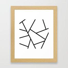 Black and White Fragments - Geometric Design I Framed Art Print