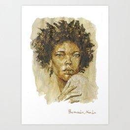 Sahara Woman  Art Print