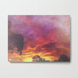 Sunset Inferno Metal Print