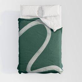 Kinda Wave in Emerald Comforters