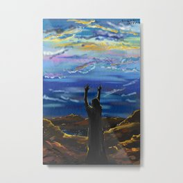 In Difficult Moments Seek God Metal Print