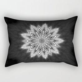 Black Ice Mandala Swirl Rectangular Pillow