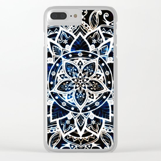 Radiant Zen Glowing Mandala Clear iPhone Case