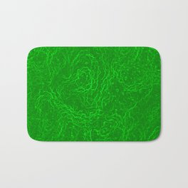 Neon Green Alien DNA Plasma Swirl Bath Mat