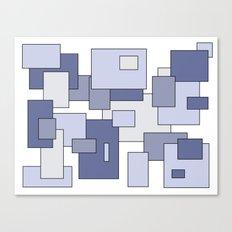 Squares - blue. Canvas Print