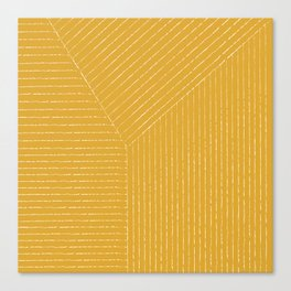 Lines (Mustard Yellow) Canvas Print