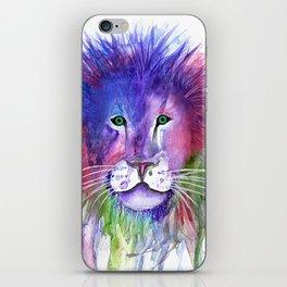 Watercolor Lion iPhone Skin