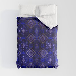Lovely Royal Blue Oriental Traditional Moroccan Style Design Comforters