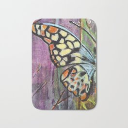 The Yellow Butterfly - by Toni Wright Bath Mat