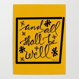 And All Shall Be Well Julian of Norwich Poster