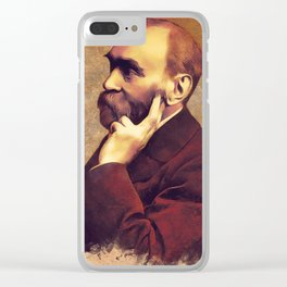 Alfred Nobel, Inventor Clear iPhone Case