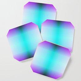Purple Blue Black Ombre Hexagons Bi-lobe Contact binary Coaster