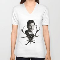 true detective V-neck T-shirts featuring True Detective by ConnorEden