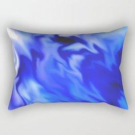 Light blue and silver waves Rectangular Pillow
