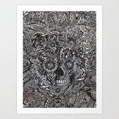 Sensory Overload Skull Art Print
