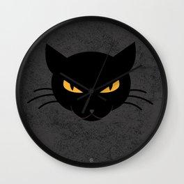 Evil Kitty Wall Clock