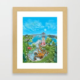 Disc Golf - Lake Monster Framed Art Print