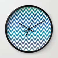 chevron Wall Clocks featuring Chevron by David Zydd