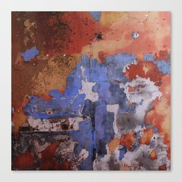 Abstract wall patchwork painting Canvas Print
