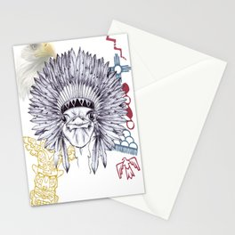 Red Indian Ostrich Stationery Cards