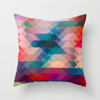 triangle Throw Pillows featuring TRIANGLE by Hands in the Sky
