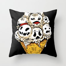 I Scream on Friday the 13th Throw Pillow