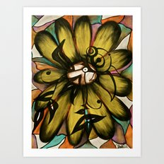 Let The Sunshine In (Sunflower) Art Print