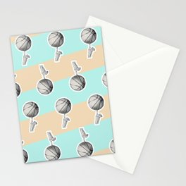 Spin a basketball Stationery Cards