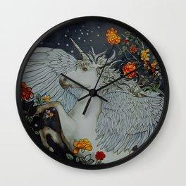 te second last unicorn Wall Clock