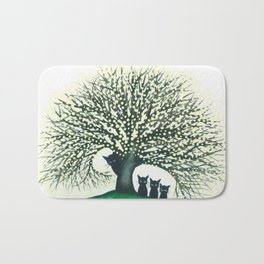 Illinois Whimsical Cats Bath Mat