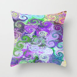 Swirl on Swirl Throw Pillow
