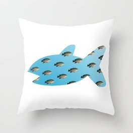 Fishy Outline Throw Pillow