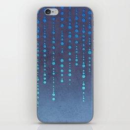 Dark Glamour blue faux glitter rhinestones iPhone Skin